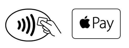 Unde poti plati cu Apple Pay in Romania? Logo Apple Pay si Contactless